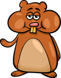 Hamster character cartoon illustration Stock Image