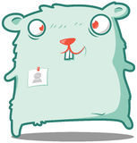 Hamster clerk here to help! Royalty Free Stock Images