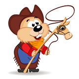 Hamster cowboy Stock Photography