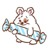 Hamster Cute candy cartoon illustration Royalty Free Stock Images