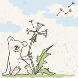 Hamster with dandelion Stock Image