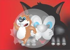 Hamster, der das buble bricht lizenzfreies stockfoto