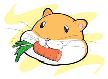 Hamster Eating A Carrot Royalty Free Stock Photos