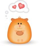 Hamster feliz ilustração royalty free