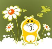 Hamster and flowers Stock Photography