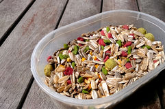 Hamster food on  wooden table Stock Photography