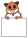 Hamster holding a blank sign Stock Photo