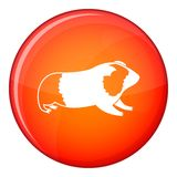 Hamster icon, flat style Royalty Free Stock Image