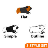 Hamster icons set Royalty Free Stock Photos