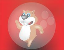 Hamster im buble Lizenzfreie Stockfotografie