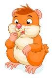 Hamster isst Korn stock abbildung