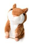 Hamster macio do brinquedo isolado no fundo branco fotos de stock royalty free