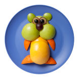 Hamster made of fruits Royalty Free Stock Photography