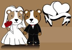 Hamster married cartoon background Royalty Free Stock Photos