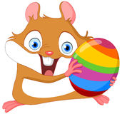 Hamster mignon Pâques Images libres de droits