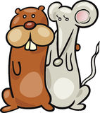 Hamster and mouse Stock Photos