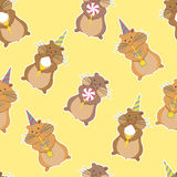 Hamster party seamless pattern Stock Photography