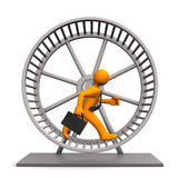 Hamster Running Wheel Stock Photography