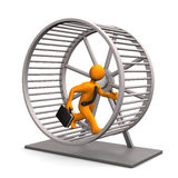 Hamster Running Wheel Royalty Free Stock Photo