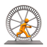 Hamster Running Wheel Royalty Free Stock Image