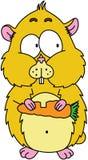 Hamster Scared dos desenhos animados Foto de Stock Royalty Free