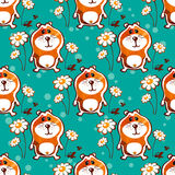 Hamster seamless pattern Stock Photography