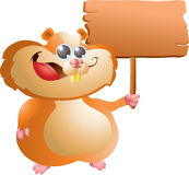 Hamster with sign Royalty Free Stock Images