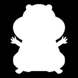 Hamster silhouette white color icon . Hamster silhouette it is white color icon Stock Photography