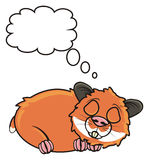 Hamster sleeps dreams Royalty Free Stock Photo