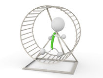 Hamster Wheel. 3d render illustration.Keep running Royalty Free Stock Image