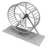 Hamster Wheel Indicates Worn Out And Active 3d Rendering Stock Photography
