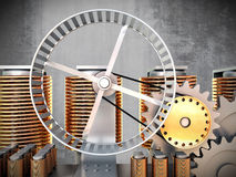 Hamster wheel power Stock Photo