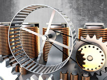 Hamster wheel power Royalty Free Stock Photos