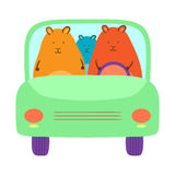 Hamsters In The Car Stock Photography