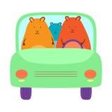 Hamsters in de Auto Stock Fotografie