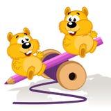 Hamsters op een schommeling royalty-vrije illustratie