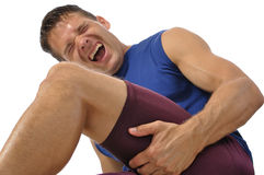 Hamstring injury Stock Photo