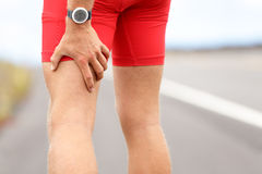 Hamstring sprain or cramps Royalty Free Stock Images