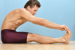 Hamstring stretch Royalty Free Stock Photos
