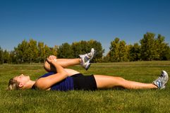 Hamstring stretch Royalty Free Stock Images