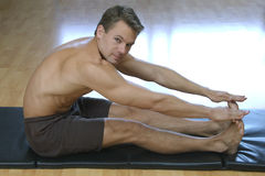 Hamstrings stretch Royalty Free Stock Photo