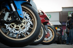 Hamulcowy motocykl Obraz Stock