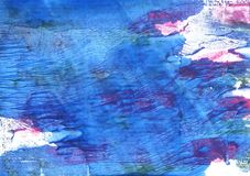 Han blue abstract watercolor background Royalty Free Stock Photo