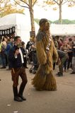 Han et Chewie aux bandes dessinées et aux jeux 2017 de Lucques Images libres de droits