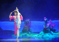 Han girl-Hui ballet moon over Helan Royalty Free Stock Images