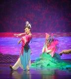 Han girl-Hui ballet moon over Helan Stock Photos
