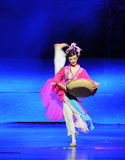 Han girl-Hui ballet moon over Helan Stock Photography