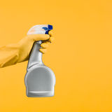 Han holding spray bottle Royalty Free Stock Image