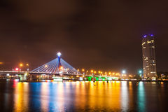 Han River Bridge. Beautiful bridge in Da Nang city royalty free stock images