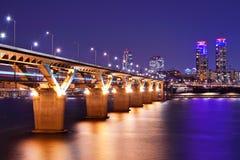 Han River i Seoul royaltyfri bild